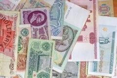 Papel moeda colorido do Velho Mundo Foto de Stock Royalty Free