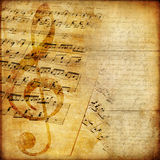 Papel musical Imagens de Stock Royalty Free