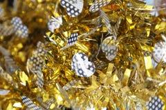 Papel newyear del arco iris del oro y de la plata Imágenes de archivo libres de regalías