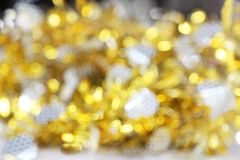 Papel newyear del arco iris del oro y de la plata Imagen de archivo