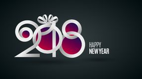 Papel novo de 2018 anos Foto de Stock Royalty Free
