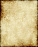 Papel o pergamino viejo Foto de archivo libre de regalías