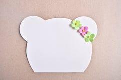 Papel para cartas com o urso tão bonito Fotografia de Stock