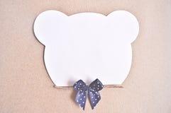Papel para cartas com urso Fotografia de Stock