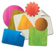 Papel para cartas dado forma colorido Imagens de Stock Royalty Free