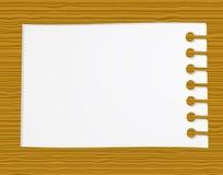 Papel para cartas na madeira Imagem de Stock