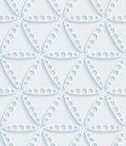 Papel perfurado branco Imagens de Stock