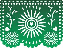 Papel Picado. Mexican decoration for the day of the death, and Mexican indendence, flowers