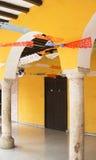 Papel Picado/dekorativ pappers- slående i bris Arkivbilder