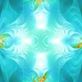 Papel pintado abstracto azul del fractal con diferente y muchas formas Foto de archivo