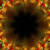 Papel pintado abstracto colorido del fractal con diferente y muchas formas Foto de archivo libre de regalías
