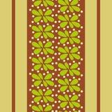 Papel pintado abstracto con las hojas y las líneas Foto de archivo libre de regalías