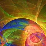 Papel pintado abstracto del fractal con diferente y muchas formas Fotos de archivo