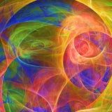 Papel pintado abstracto del fractal con diferente y muchas formas Fotos de archivo libres de regalías