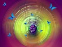 Papel pintado abstracto del giro Fotografía de archivo libre de regalías