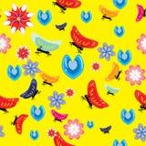 Papel pintado alegre de los niños Fotografía de archivo libre de regalías