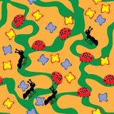 Papel pintado alegre de los niños Stock de ilustración