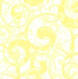 Papel pintado amarillo suave del vector Imágenes de archivo libres de regalías