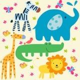 Papel pintado animal Imágenes de archivo libres de regalías