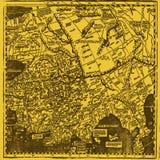 Papel pintado antiguo del mapa Imagenes de archivo