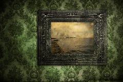 Papel pintado antiguo sucio Imagen de archivo libre de regalías