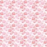 Papel pintado apacible-rosado inconsútil con las rosas. Imagenes de archivo
