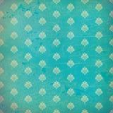 Papel pintado azul del grunge del damasco Imagen de archivo libre de regalías