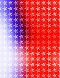 Papel pintado blanco rojo de las estrellas azules Fotos de archivo