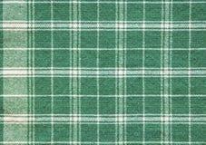 Papel pintado blanco verde del fondo del mantel de la tela escocesa Fotos de archivo libres de regalías