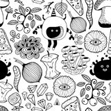 Papel pintado blanco y negro para colorear Imagenes de archivo