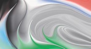 papel pintado Color-lleno del diseño geométrico de la onda stock de ilustración