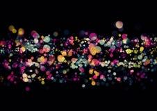 Papel pintado colorido abstracto del bokeh Foto de archivo libre de regalías