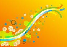 Papel pintado colorido abstracto del fondo Stock de ilustración