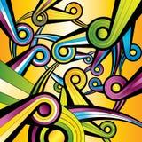 Papel pintado colorido de la dimensión de una variable del arco iris stock de ilustración
