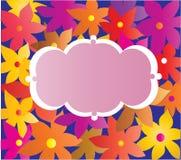 Papel pintado con la ornamentación decorativa de la flor. Foto de archivo libre de regalías
