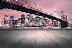 Papel pintado creativo de la ciudad de la noche Fotografía de archivo