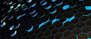 Papel pintado de Abstarct hexagonal Fotos de archivo libres de regalías