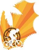 Papel pintado de la bici de montaña Imagen de archivo