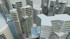Papel pintado de la ciudad de la visión superior Fotos de archivo