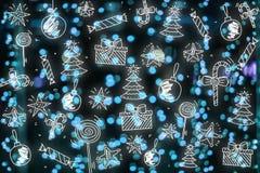 Papel pintado de la Feliz Navidad, modelo, Feliz Año Nuevo del fondo Imagenes de archivo