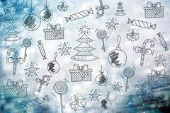 Papel pintado de la Feliz Navidad, modelo, Feliz Año Nuevo del fondo Imagen de archivo