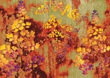 Papel pintado de la flora Imágenes de archivo libres de regalías