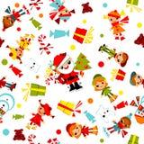 Papel pintado de la Navidad de los cabritos. Foto de archivo libre de regalías