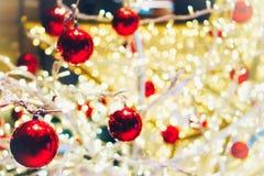 Papel pintado de la Navidad y festival del Año Nuevo Fotografía de archivo libre de regalías
