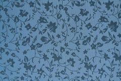 Papel pintado de la tela del gris con las flores ilustración del vector