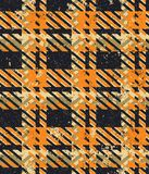 Papel pintado de la tela escocesa de la tela del tartán del Grunge Foto de archivo