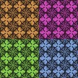 Papel pintado de la vendimia de cuatro colores Imagen de archivo libre de regalías