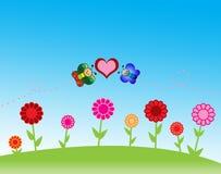 Papel pintado de las flores Foto de archivo