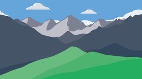 Papel pintado de las montañas Imagen de archivo libre de regalías