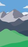 Papel pintado de las montañas Fotos de archivo